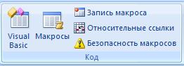 Вкладка разработчик Код