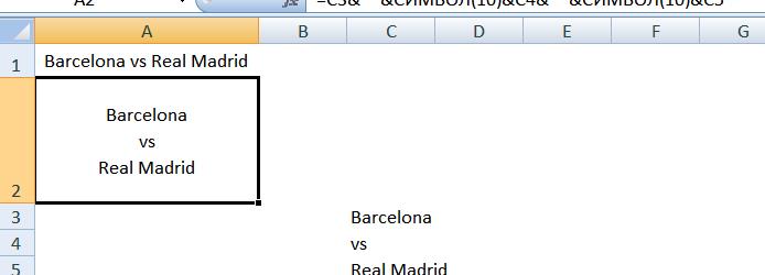 Абзац в Excel 2