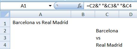 Абзац в Excel